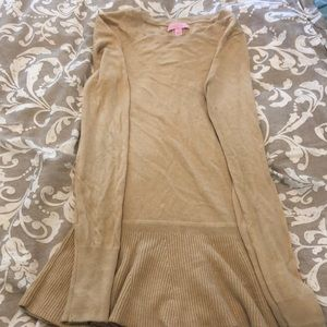 Tan Lily Pulitzer peplum sweater